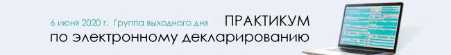 Практикум по электронному декларированию 6 июня 2020 г.